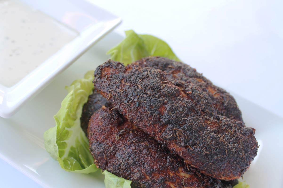 Blackened Chicken Tenders Dj Foodie