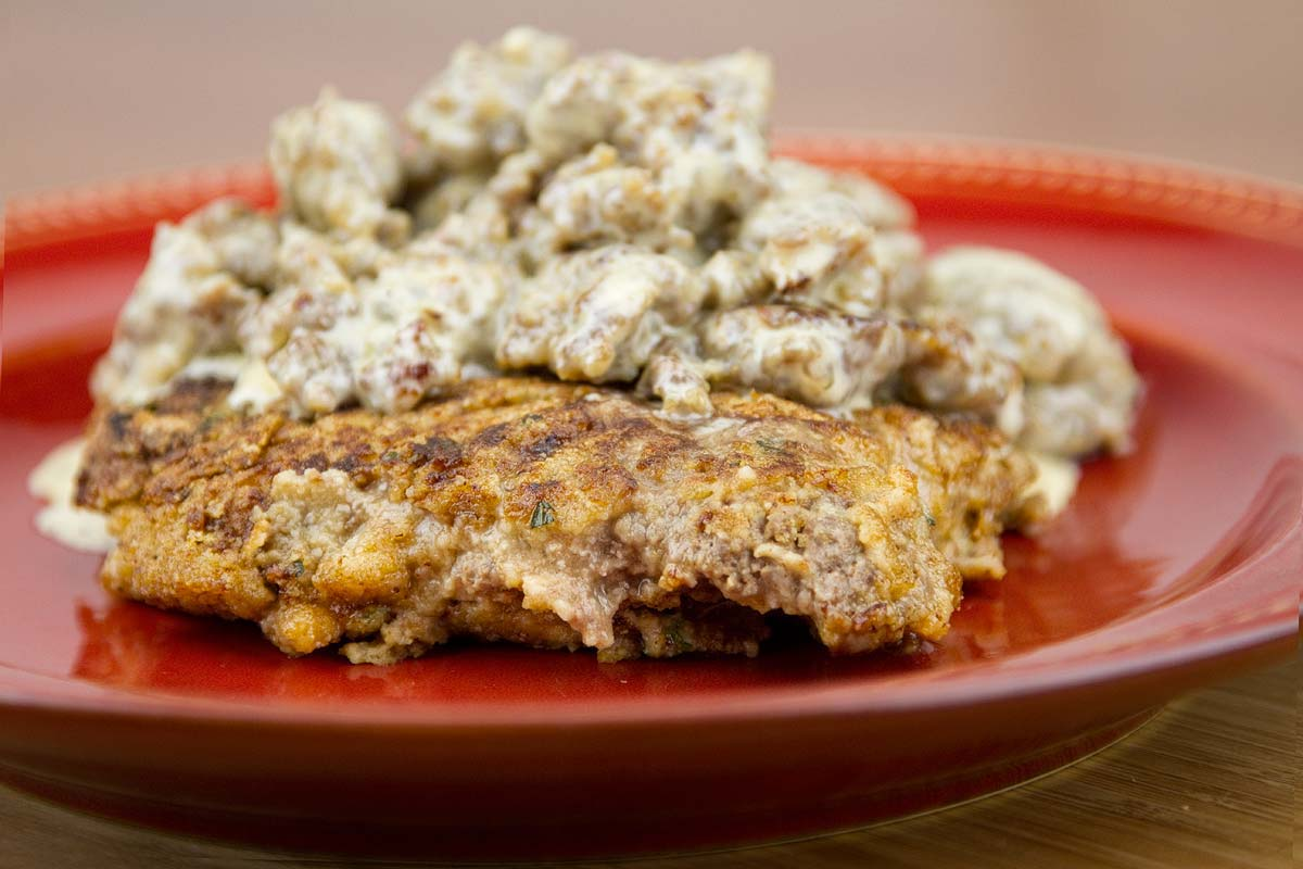 Chicken-Fried-Steak with Sausage Gravy