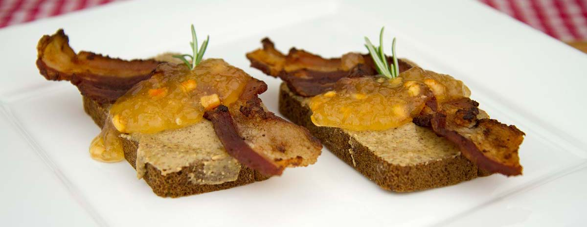 Crispy Pepper Bacon with Dijon, Orange Marmalade and Rosemary... on Warm Paleo Toast