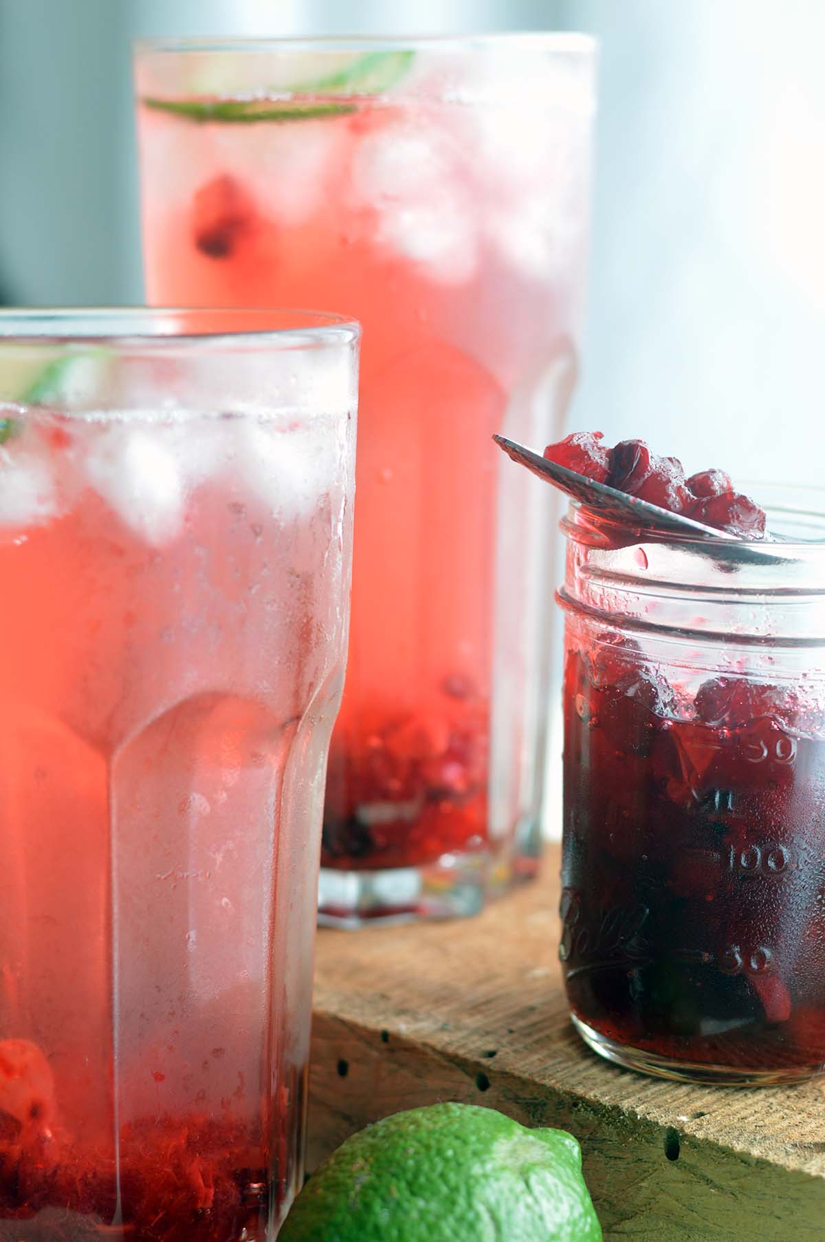 Cranberry-Lime Soda