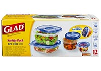 GladWare Variety Pack Food Storage, 12 Count Packages (Pack of 2)