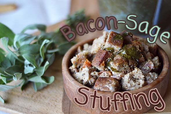 Grain-Free Bacon, Sage and Turkey Stuffing