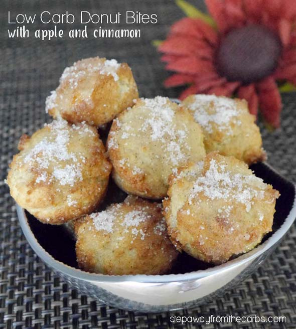 Low Carb Donut Bites with Apple and Cinnamon