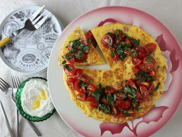 Christmas Frittata with Whipped Ricotta