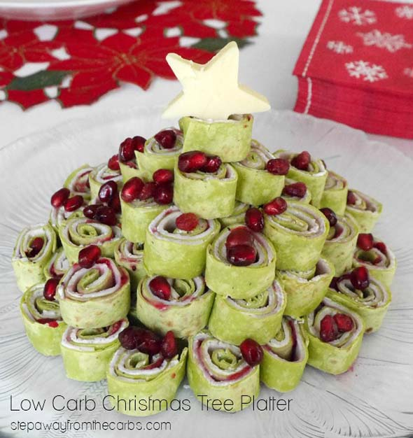 Low Carb Christmas Tree Platter