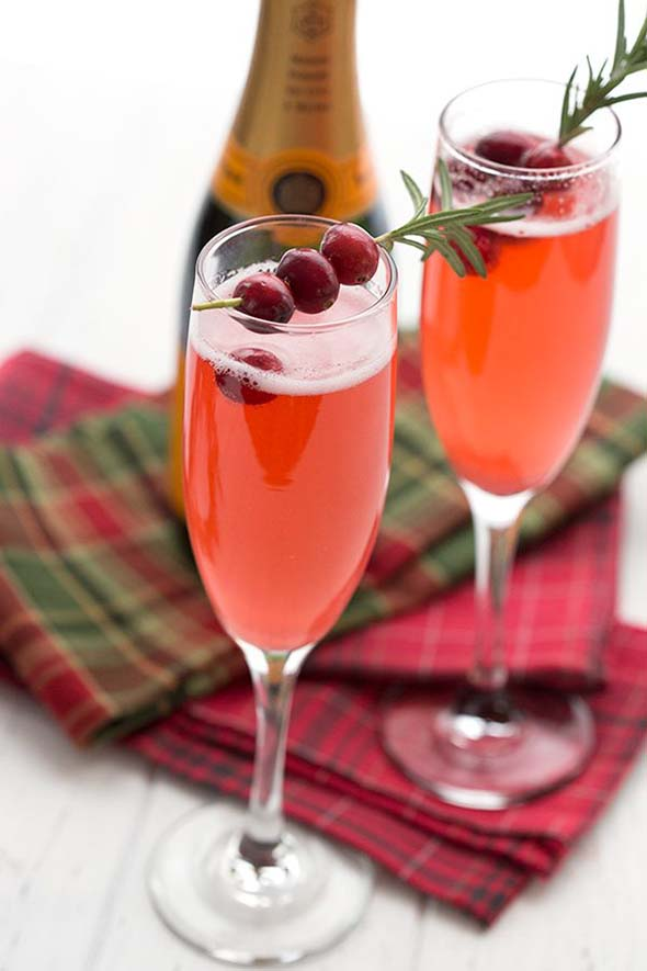 Cranberry Champagne Sparklers