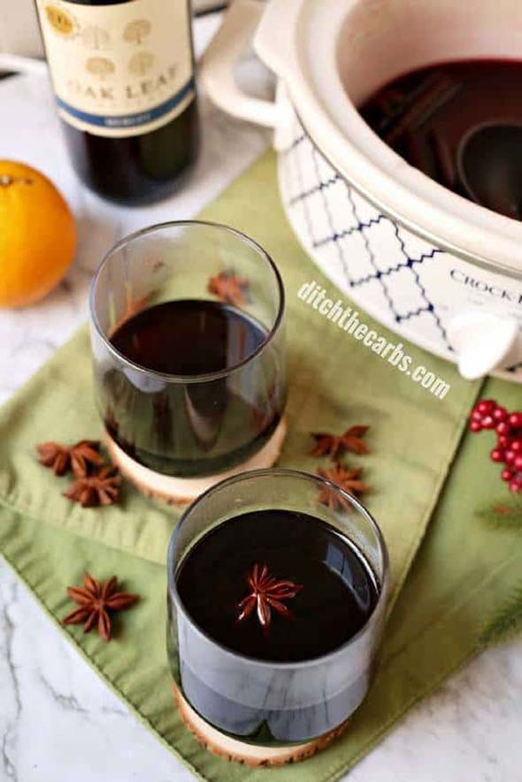 Slow Cooker Low-Carb Mulled Wine