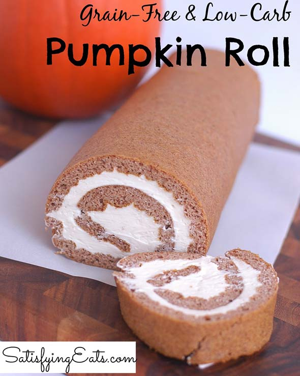 Grain-free and Low-Carb Pumpkin Roll