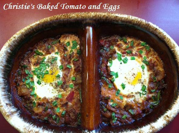 Christie's Baked Tomato and Eggs