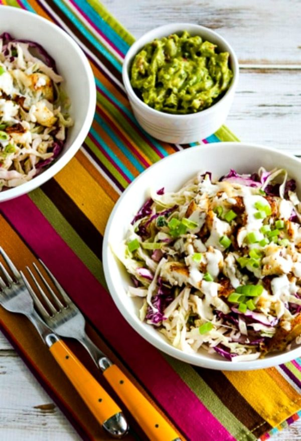 Low-Carb Fish Taco Cabbage Bowls