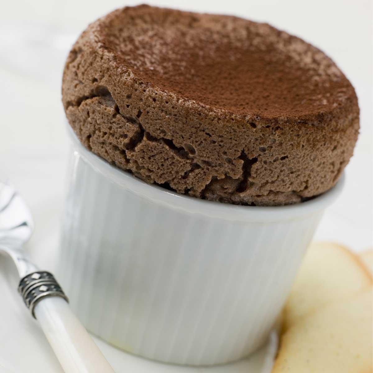 Mexican Hot Chocolate Souffle