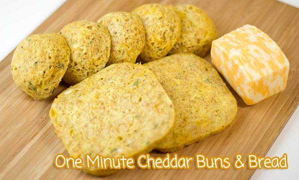 One Minute Cheddar Bread and Buns