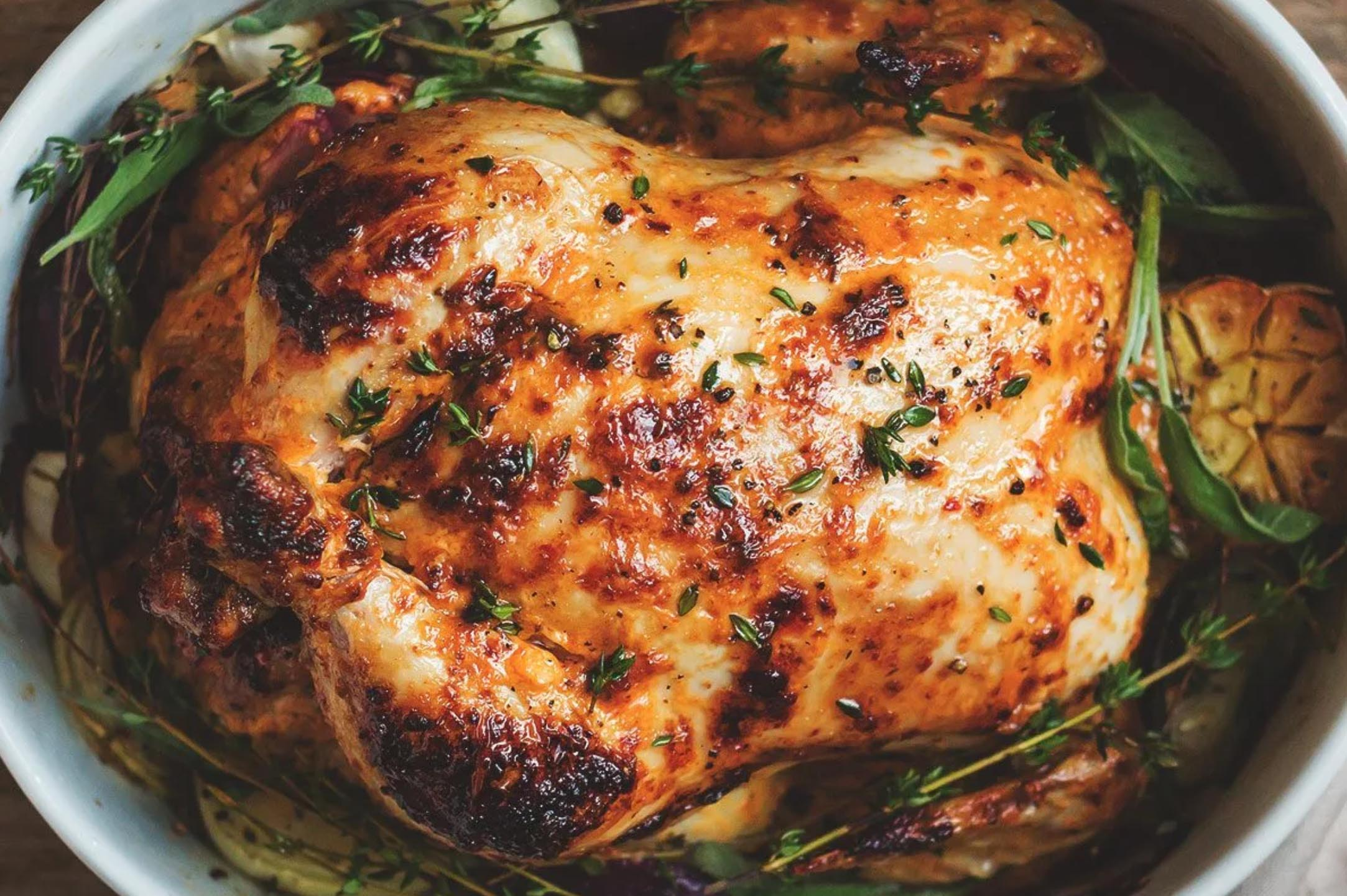 Mayonnaise Roasted Whole Chicken