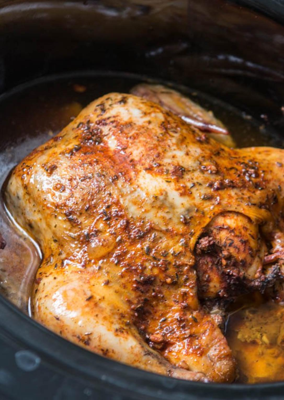 Tender Crockpot Whole Chicken