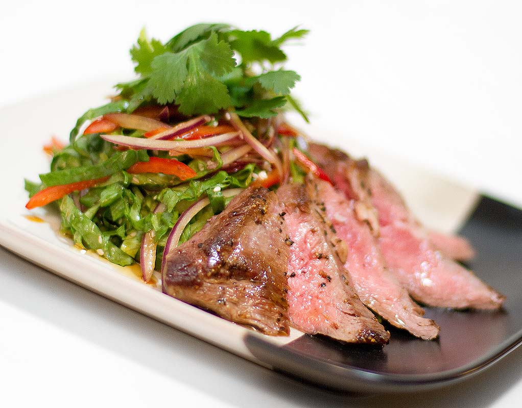 Chilled Soy-Lime Flank Steak Salad