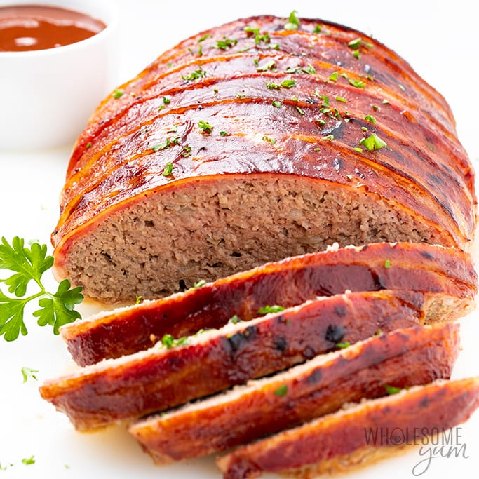 Low-Carb Bacon-Wrapped Turkey Meatloaf