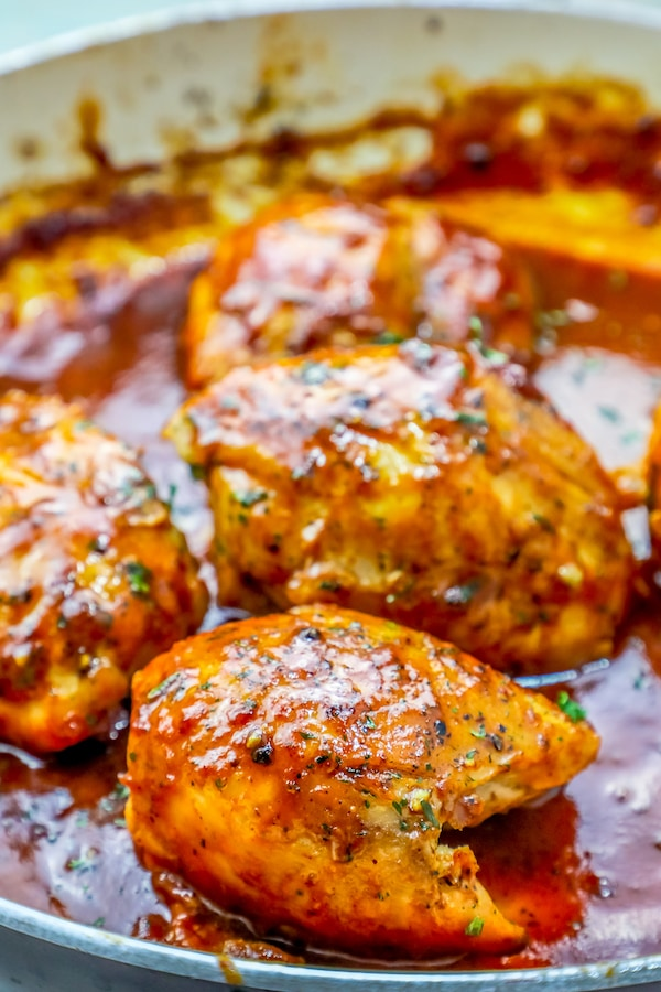 Easy One Pan BBQ Chicken Thighs