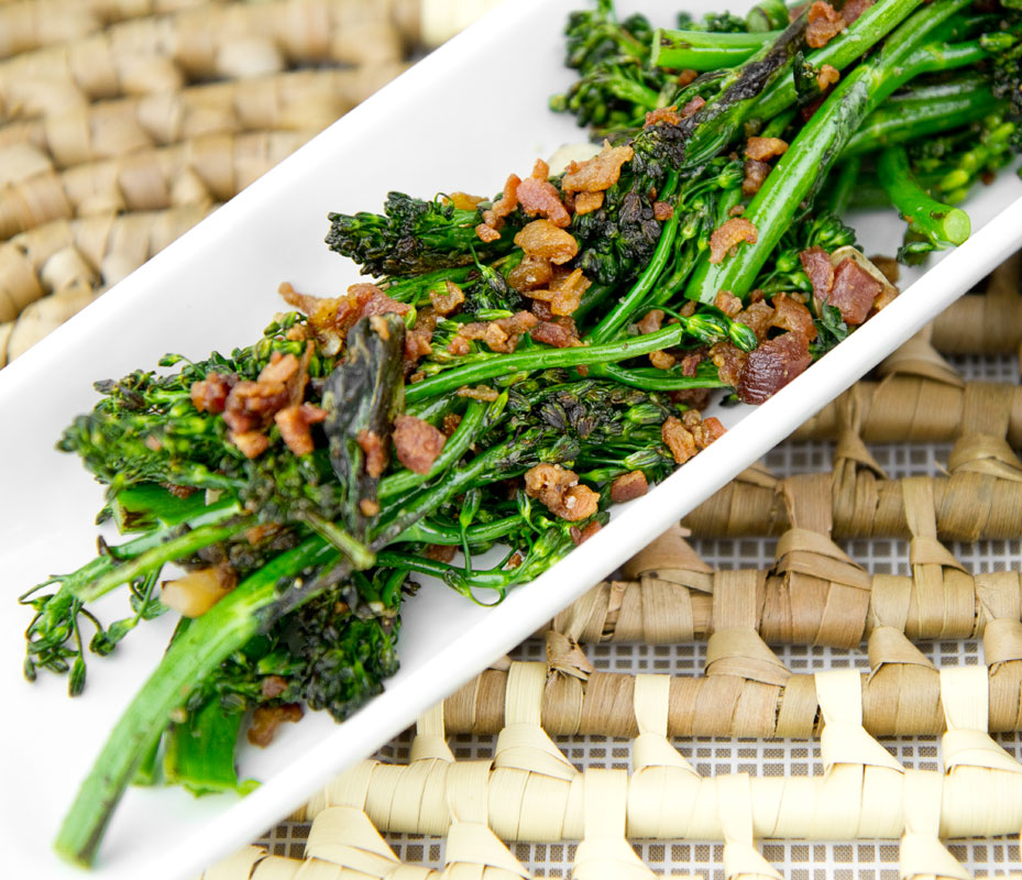 Garlicky Baby Broccoli with Bacon