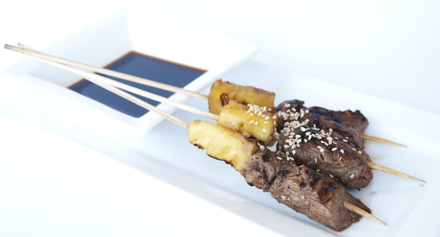 Beef Pineapple Teriyaki Skewers