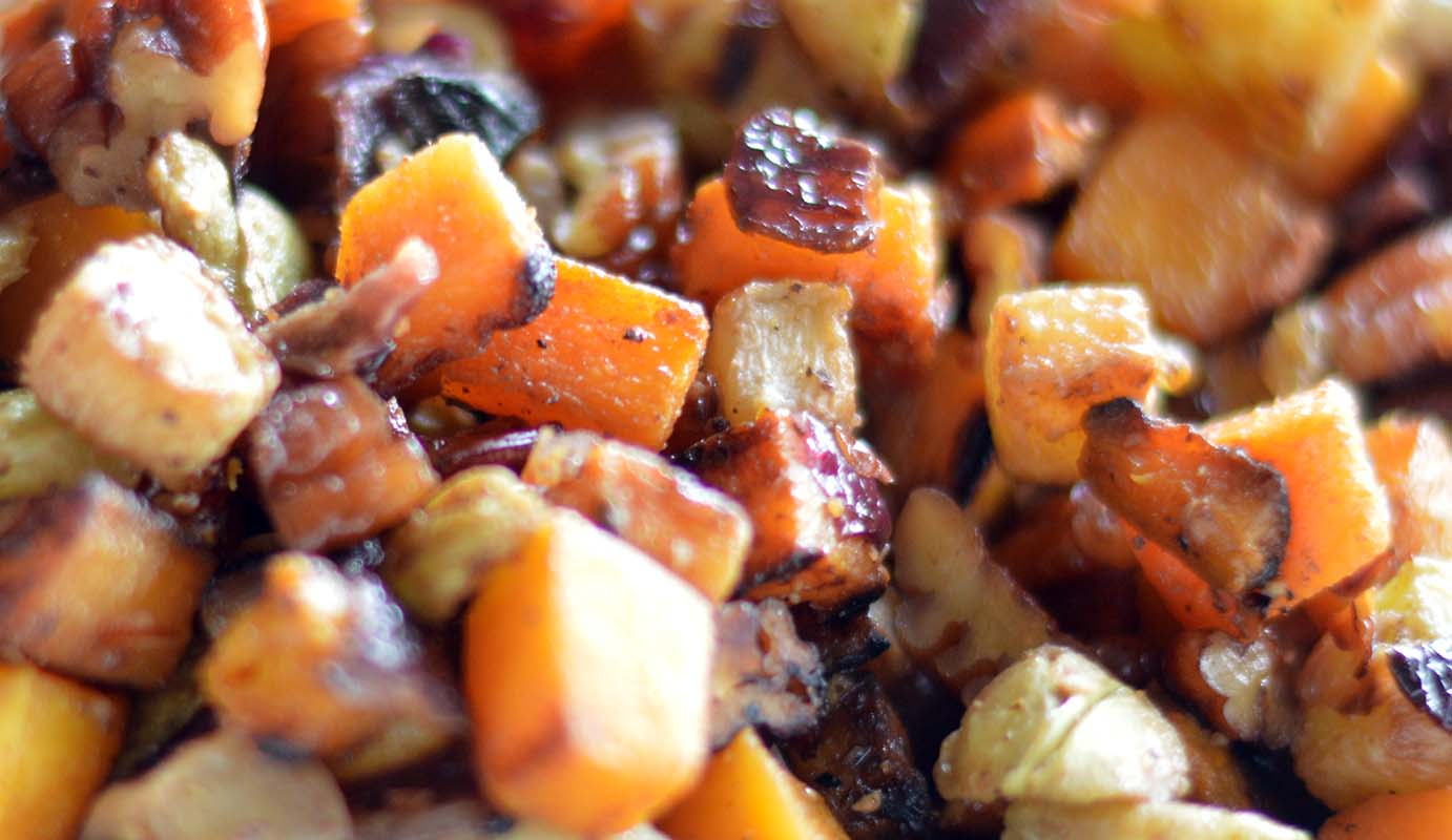 Butternut and Chayote Hash