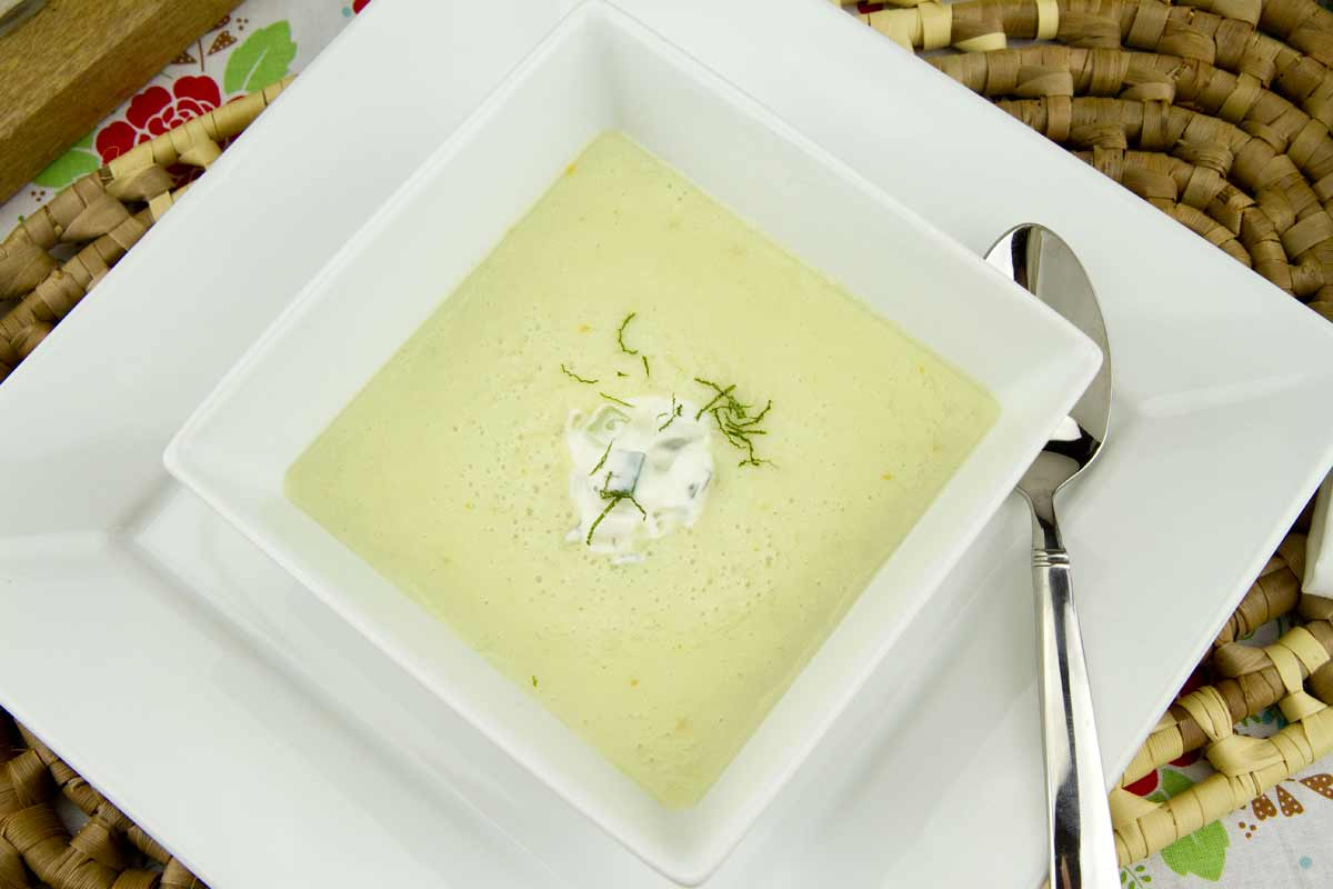 Chilled Melon & Cucumber Soup