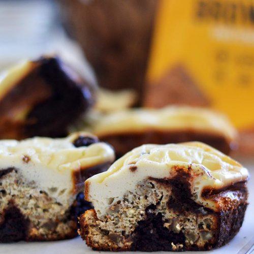 Chocolate Marbled Bayou Brownies