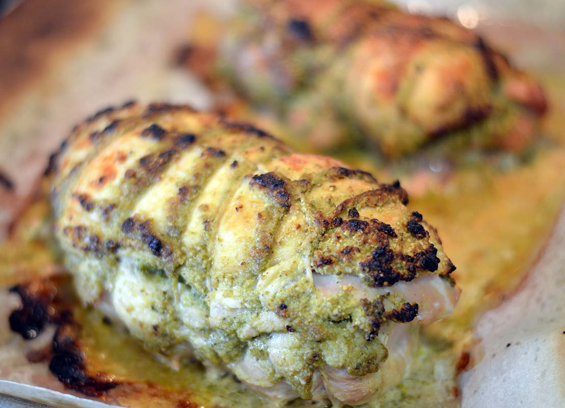 Brined Cilantro Pesto Turkey