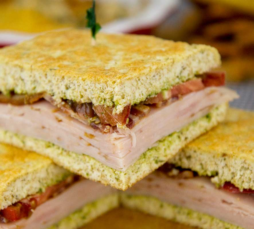 Italian Turkey Club Sandwich
