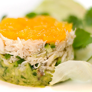 Crab Salad with Avocado and Tangerines