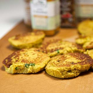 Curried Cauliflower Cakes
