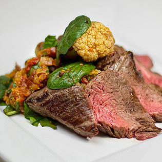 Spiced Ginger Steak Salad with Cauliflower