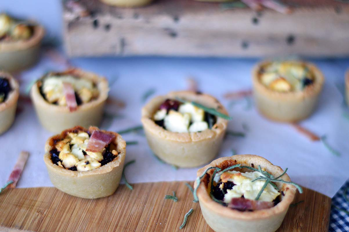 Goat Cheese, Mushroom and Cranberry Tartlets