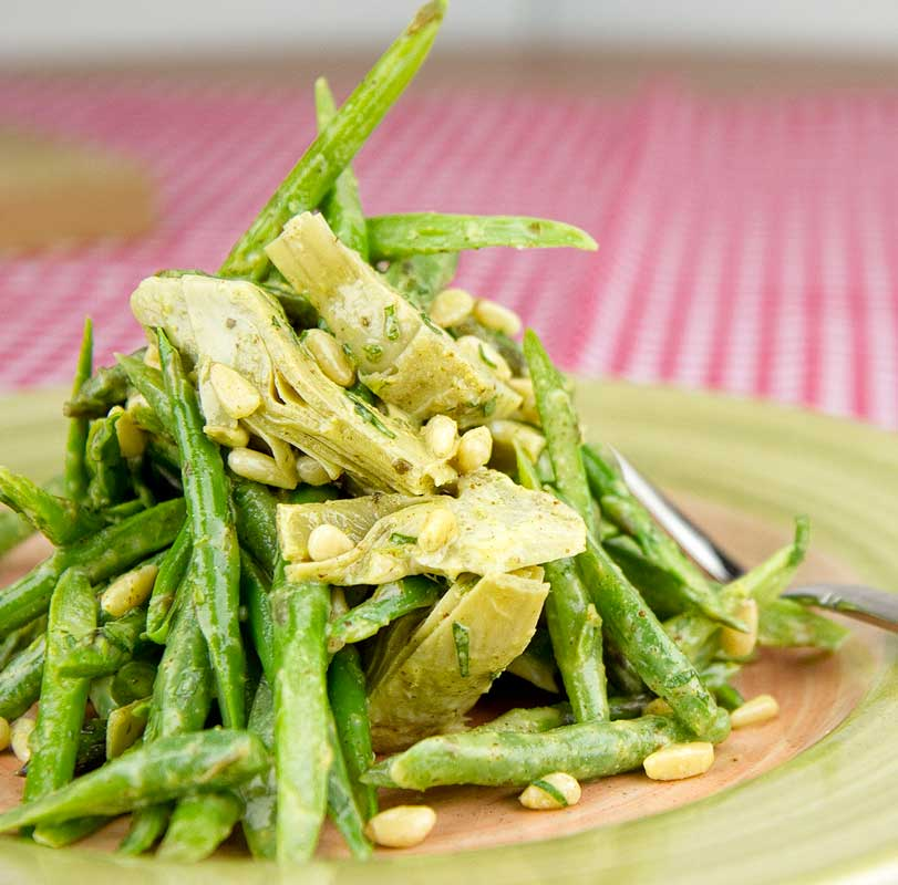 Green Beans, Asparagus and Heartichoke Salad