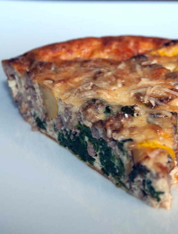 Ground Beef, Parmesan and Spinach Fritatta