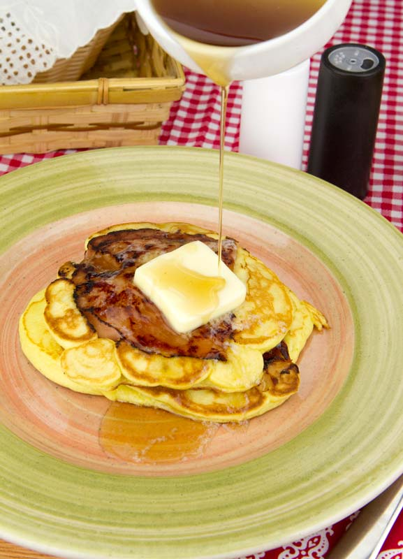 Ham Steak Pancakes