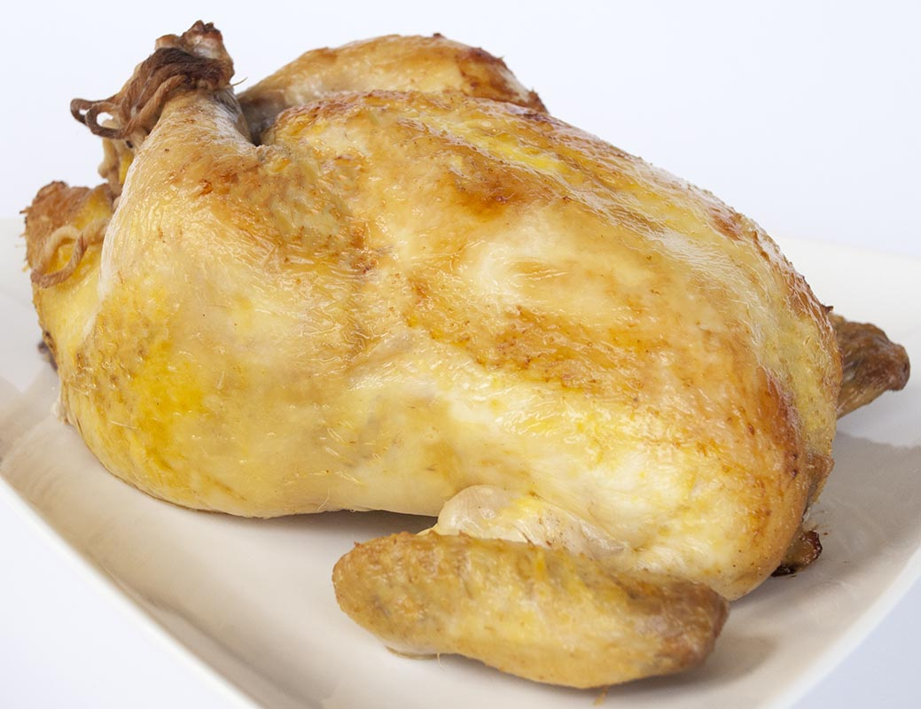 Juicy Brined Whole Roasted Chicken