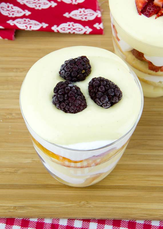 Orange-Blackberry Trifle