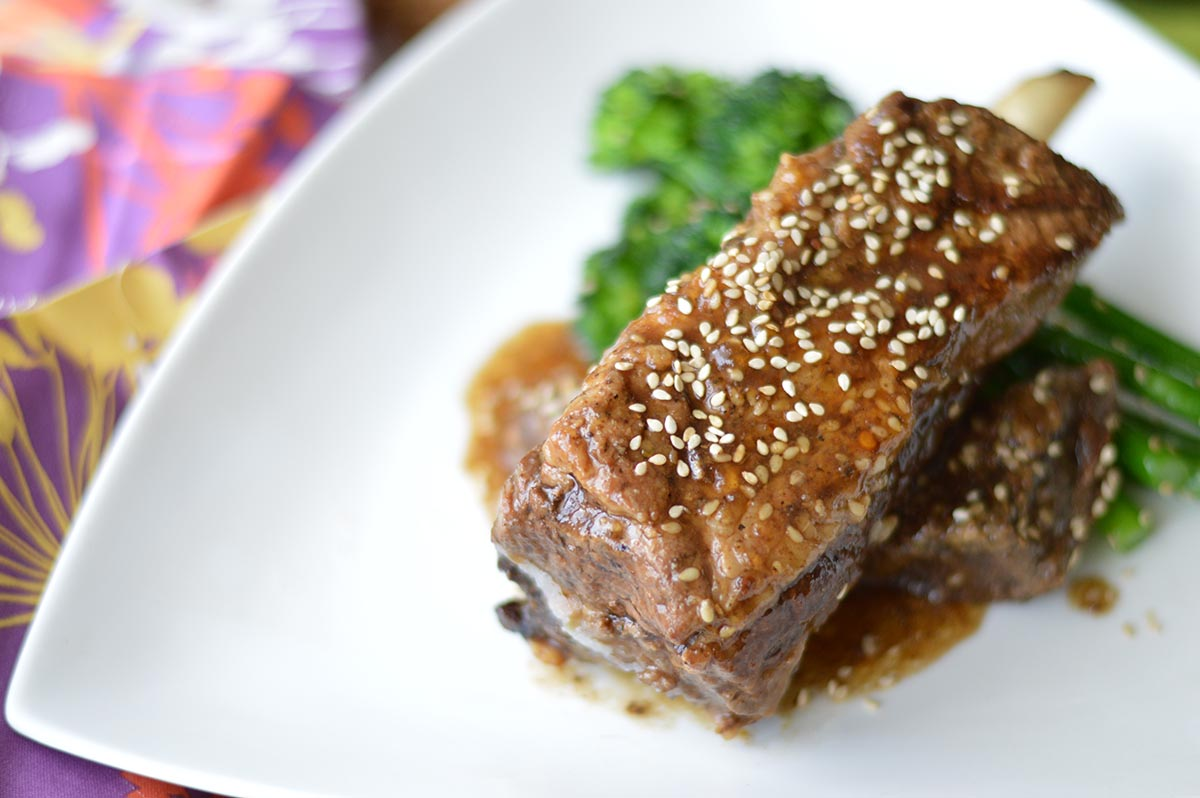 Orange-Sesame Beef Short Ribs