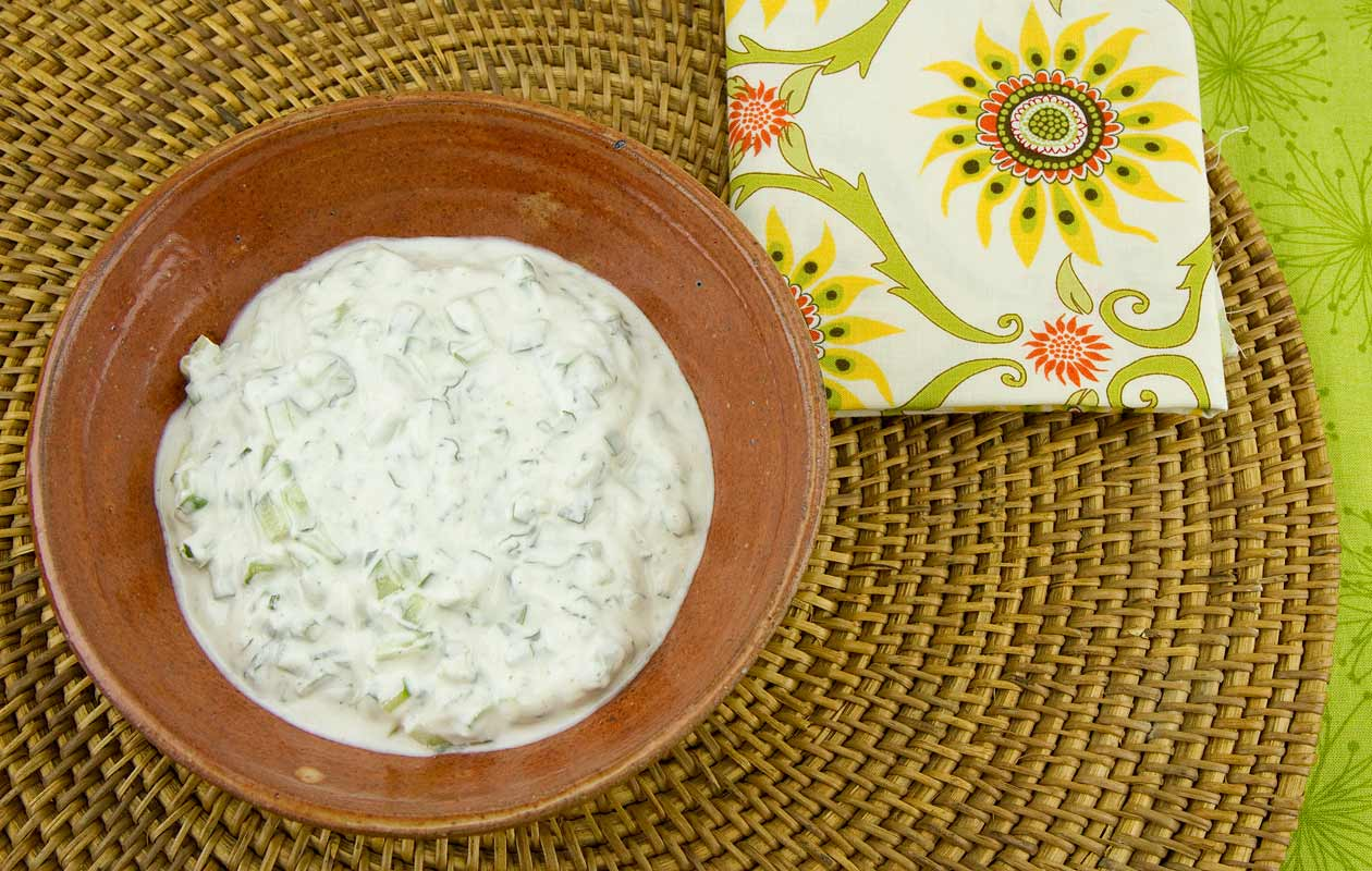 Raita (Cucumber-Yogurt Sauce)