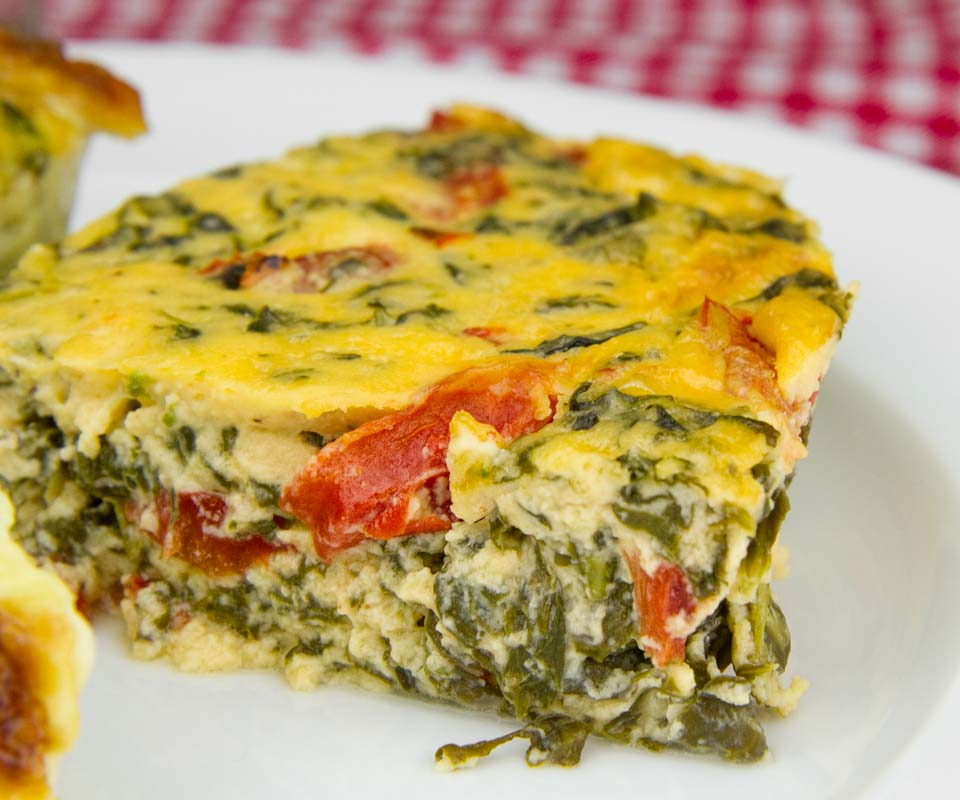 Spinach, Roasted Pepper and Parmesan Pudding