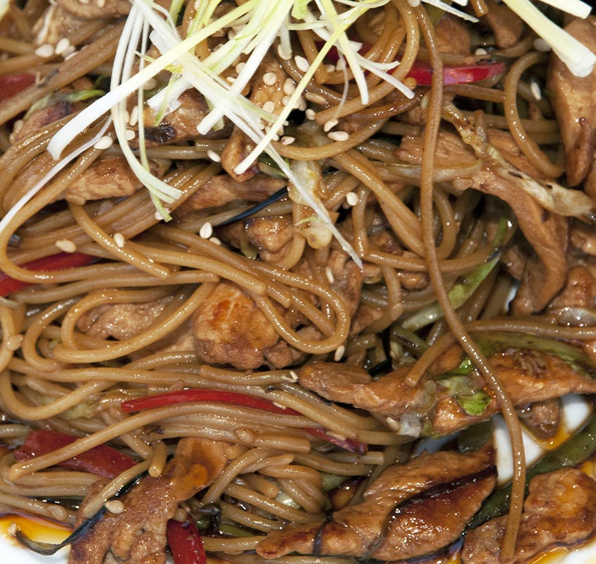 Stir Fry Sesame Ginger Beef and Noodles