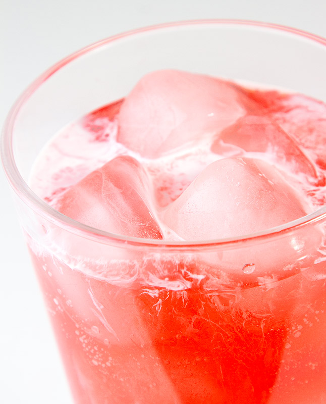 Strawberry-Almond Italian Soda