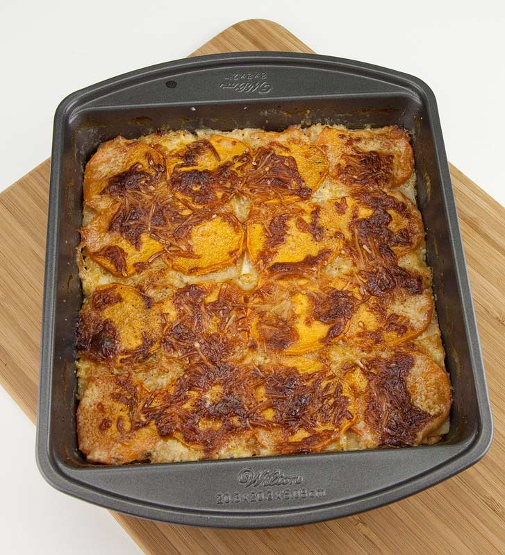 Sweet Potato and Celeriac Au Gratin