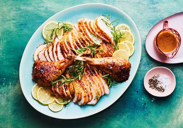 Quick Thanksgiving Turkey with Lemon-Garlic Butter